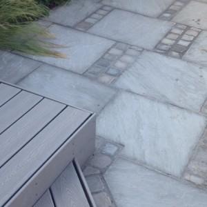 Trex with promenade sandstone