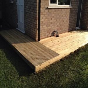 A decking path