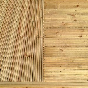 Wooden decking boards