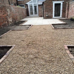 Using pea gravel as an alternative to paving