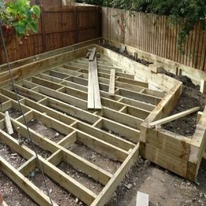 Sturdy decking foundations
