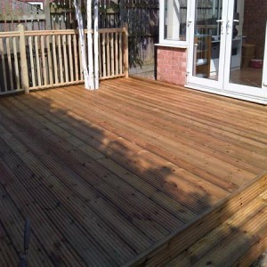 Large timber deck