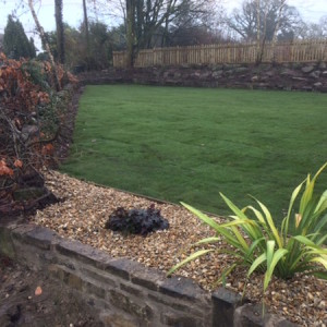 Garden clearance, new lawn and fencing