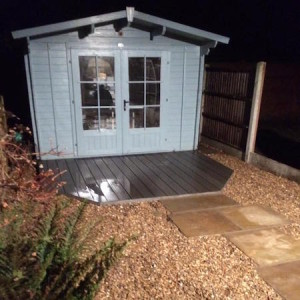 Summerhouse decking