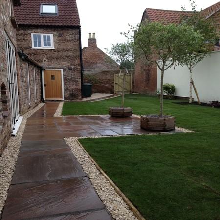 Show-home garden