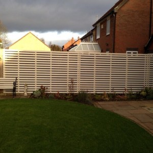 Bespoke white timber fencing