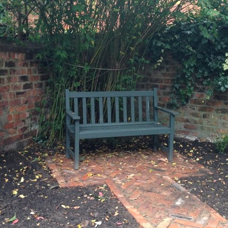 Reclaimed brick seating area