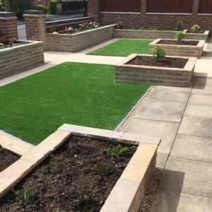 Artificial grass laid with precision