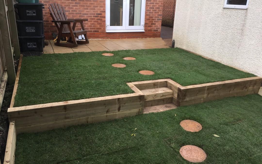 Terracing a small garden
