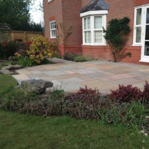 Heather sandstone patio and paths